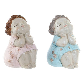 Sculpture Dekodonia Resin (2 pcs) (13 x 13 x 20 cm)