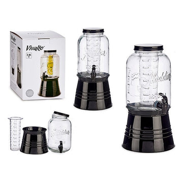 Transparent Glass Jug Cooler Tap (3800 ml)