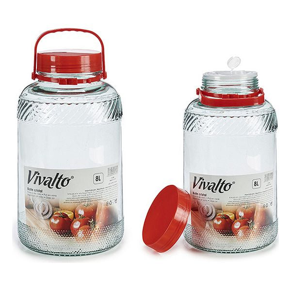 Glass Jar Red (20 x 35 x 20	 cm)