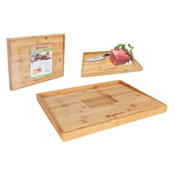 Chopping Board Quttin Bamboo Natural (40 x 30 x 2,8 cm)