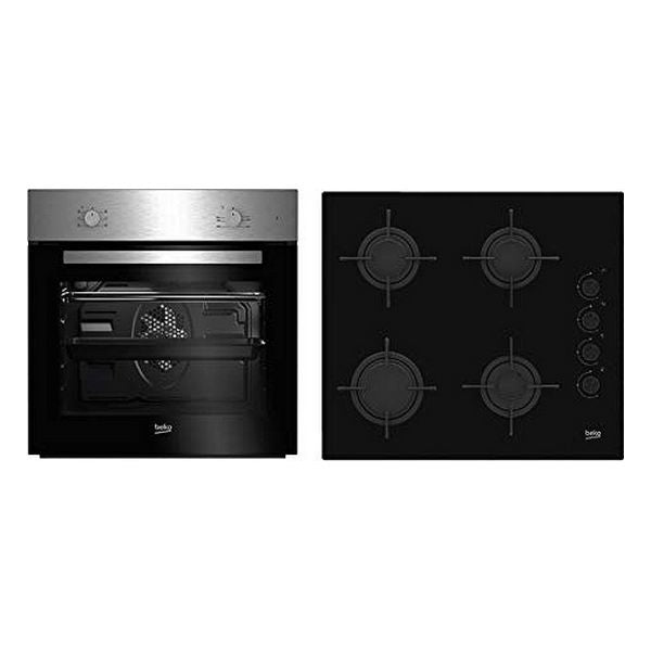 Oven and Countertop Set BEKO BSE21031CXD 66 L (4 Stoves)