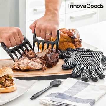 InnovaGoods Meat Claws with  Brush and Gloves