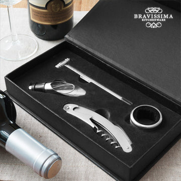 Bravissima Kitchen Set of Wine Accessories (4 pieces)