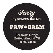 Load image into Gallery viewer, Furry by Brazen Balms - Pet Paw Balm 1.0 oz