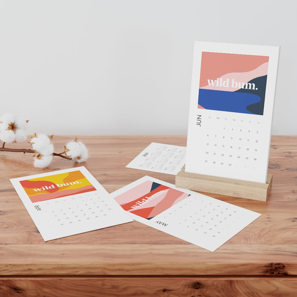Wild Bum Vertical Desk Calendar
