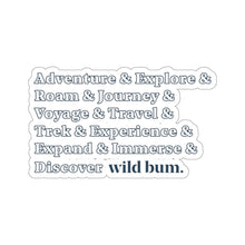 Load image into Gallery viewer, Wild Bum Kiss-Cut Sticker
