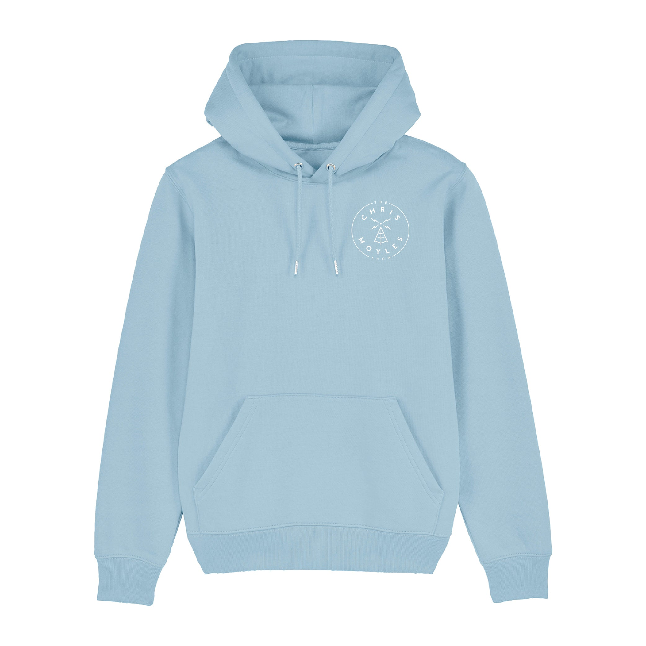 'The Chris Moyles Show' Small Print Hoodie - Sky Blue