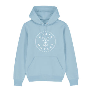The Chris Moyles Show' Large Print Hoodie - Sky Blue