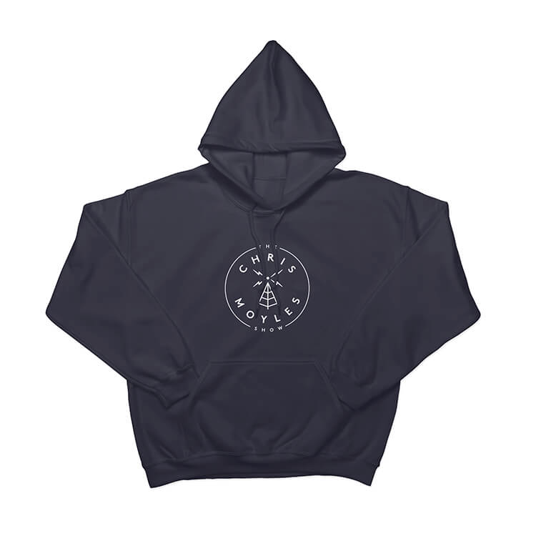 The Chris Moyles Show' Large Print Hoodie - Navy