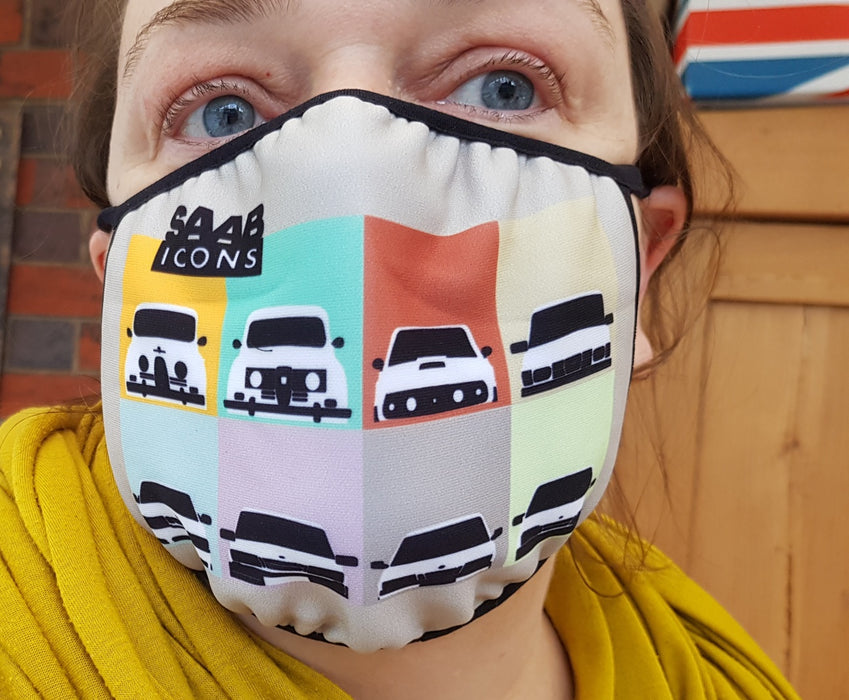 Saab Icons face mask