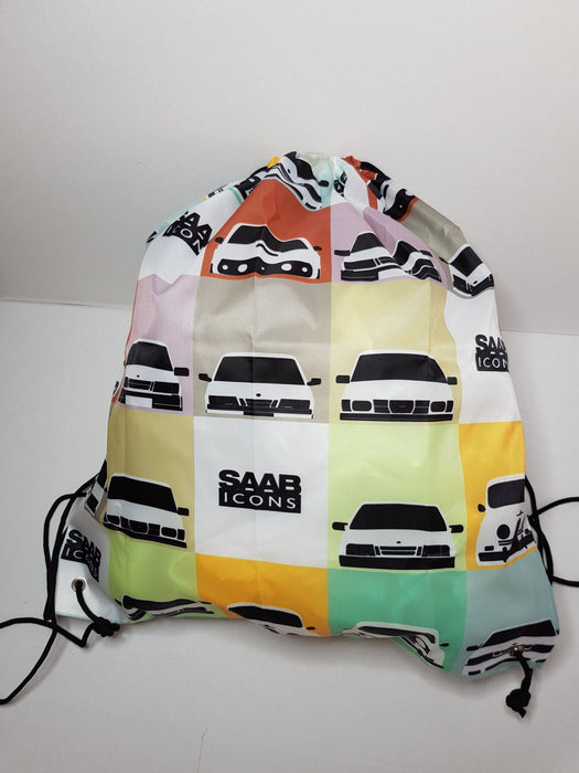 Saab icons Drawstring bag