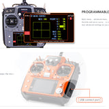 RadioLink AT10 II  RC Transmitter 2.4G 12CH Remote Control System with R12DS Receiver for RC Airplane Helicopter