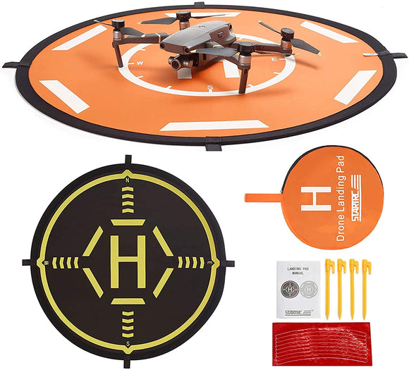 Drone Landing Pad,STARTRC Universal Waterproof Portable Foldable Landing Pads for DJI FPV Drone/DJI Mavic 2 or Mavic Pro/Mavic Air 2/SPARK/Mavic Mini/Mavic Mini 2(80CM)