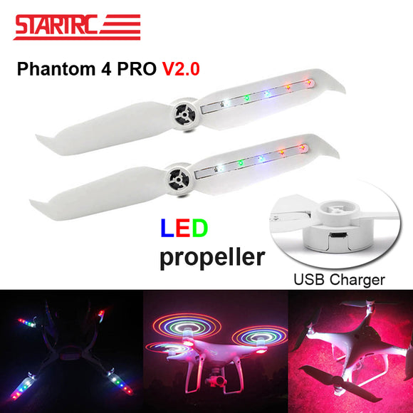 STARTRC DJI Phantom 4 Pro V2.0 Low Noise Propellers LED Propeller For DJI Phantom 4 Series/ Phantom 4 Pro