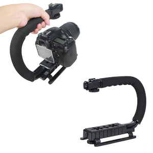 C Shaped Holder Grip Video Handheld Gimbal Stabilizer For DSLR Nikon Canon Sony Camera and Light Portable Steadicam Accessories
