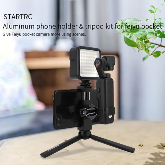STARTRC FeiYu Pocket Tripod Kit With Aluminum Phone Holder Clip Expansion Accessories For FeiYu Pocket Handheld Gimbal Camera
