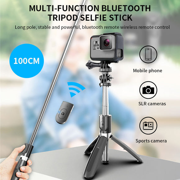 L02 Bluetooth wireless Selfie Stick Tripod Foldable & Monopods Universal For Smartphones For Gopro and Sports Action cameras