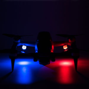 STARTRC DJI FPV LED Light Night Flying Warning Signal Lights Red/Blue For DJI Mini 2 / Mavic Mini Drone Expansion Accessories