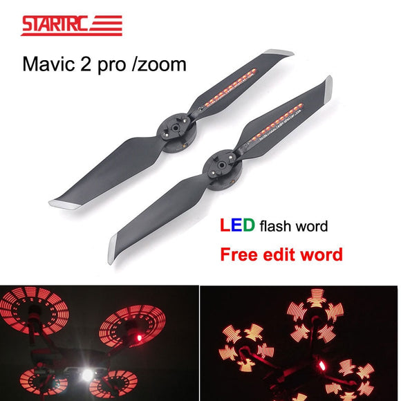 DJI Mavic 2 LED Flash Word Propellers programmable pattern paddle Quick-Releas For DJI Mavic 2 Pro Zoom Drone Accessories