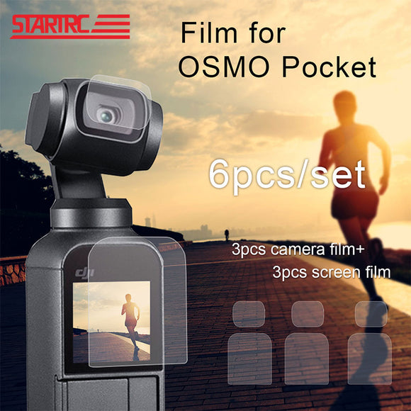 DJI OSMO Pocket Screen Film Camera Lens Protective Film Accessory for 4K Gimbal Phone Protector Films 6pcs/Lot