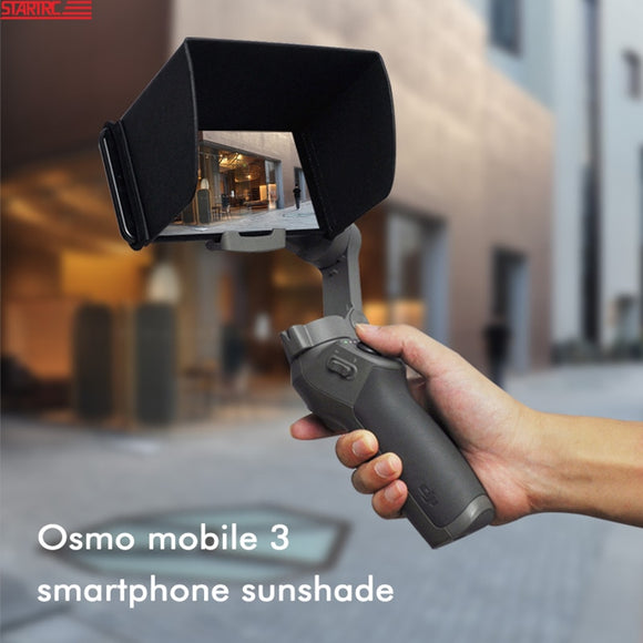 STARTRC OSMO Mobile 3 Sunshade Smartphone sun hood 4.7-5.5 inch For DJI OSMO Mobile 2 3 4 Handheld Gimbal Stabilizer Accessories