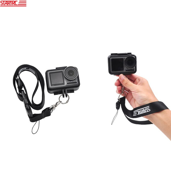 STARTRC DJI OSMO Action Neck Strap & Wrist Rope Protable lanyard For OSMO Action camera Accessories kit black/red Color