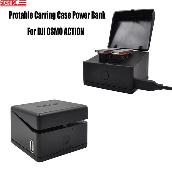 STARTRC OSMO Action Charging Case Power Bank Charger Type-c In-put USB Out-put For DJI OSMO Action Battery Charger Accessories