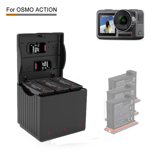 DJI Osmo Action Charging Kit / TYPE-C / Charging Hub / Protable charger 3 in 1 For OSMO Action Accessories
