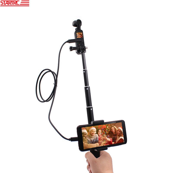 STARTRC Dji OSMO Pocket Expansion kit 0.9M Selfie Stick with Phone clip & Type-c data cable For DJI osmo pocket Accessories
