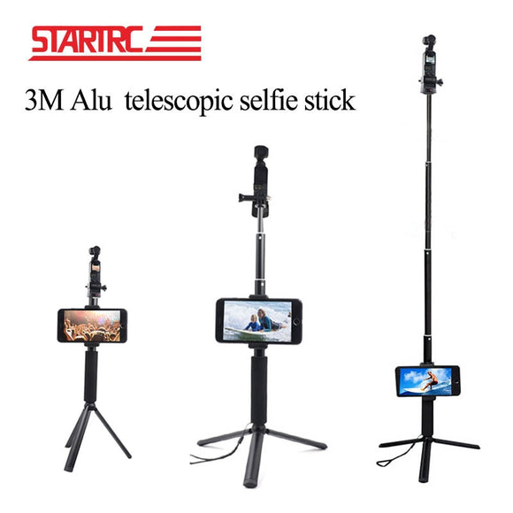 STARTRC OSMO POCKET Telescopic Rod Selfie Stick Tripod Stand holder Accessories Kit For DJI OSMO Pocket