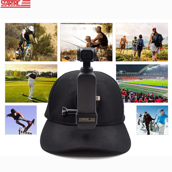 STARTRC OSMO Pocket / ACTION / insta360 Accessories Holder Hat For DJI OSMO Pocket / Action For Insta360 For Gopro 5/6/7/8 black