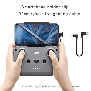 STARTRC Mavic air 2 Phone Tablet Holder Fixed Mount Clip Bracket With Data Cable Kit 30cm Yype-c to Micro B Type-C IOS