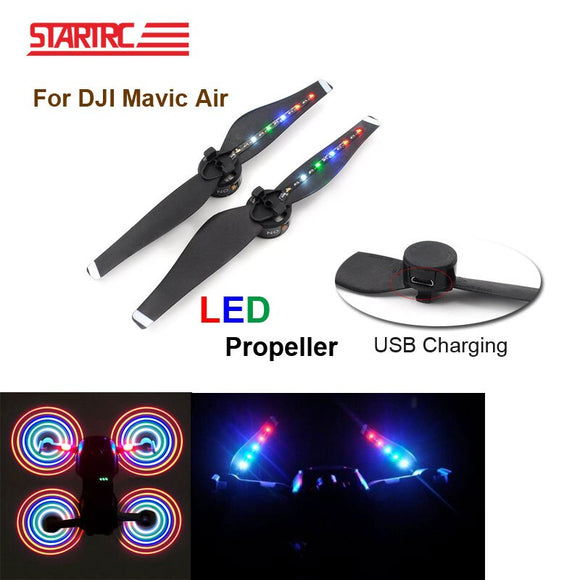 STARTRC Mavic Air Propellers LED Flash Lights Blade USB Charging plug  For Mavic Air Drone Accessories IN Stock!