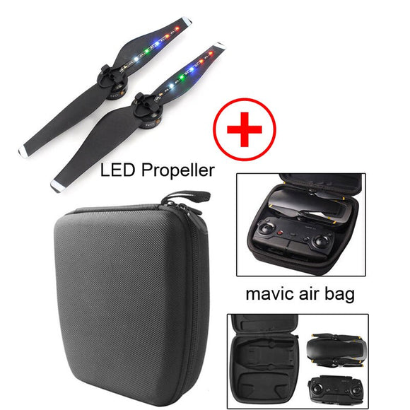 New DJI Mavic Air propellers LED Flash Propeller Drone Body Remote Control Protective Box Storage Bag For dji air Accessories