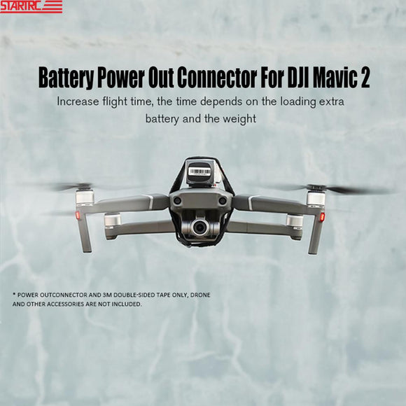 Mavic 2 Battery Power Out Connector Battery Adapter Increase Flying Time / lights connect