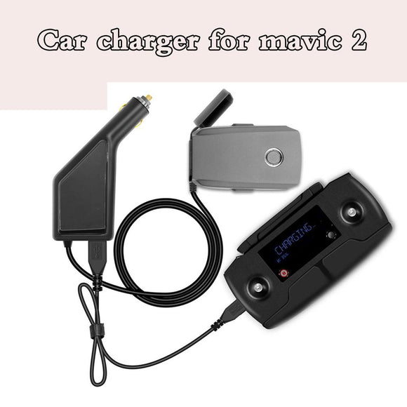 DJI Mavic 2 Charger 2 in 1 Fast Car Charger For DJI Mavic 2 Accessories Intelligent Battery Car Charging adapter