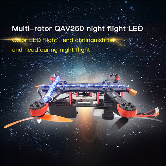STARTRC QVA250 F450 Model airplane Colorful LED Lights Night Flying Accessories Kit For QAC250 F450 Drone FPV