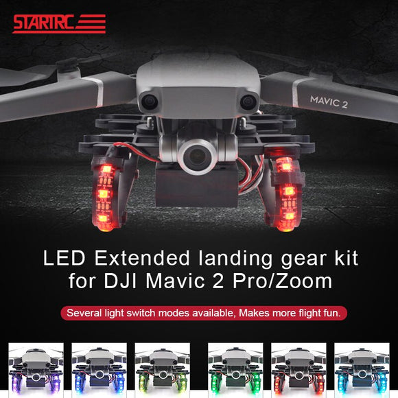STARTRC DJI Mavic 2 Pro Zoom Kit Colorful LED Extended Landing Gear For DJI mavic 2 Pro Zoom Drone Accessories Night Flying