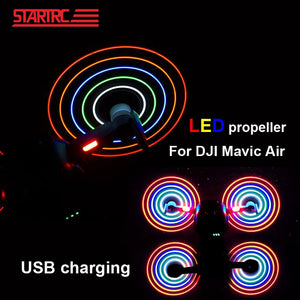 Rechargeable LED Light Flash Low Noise Quick Release Propellers for DJI Mavic Air fly more combo drone Accessories In stock