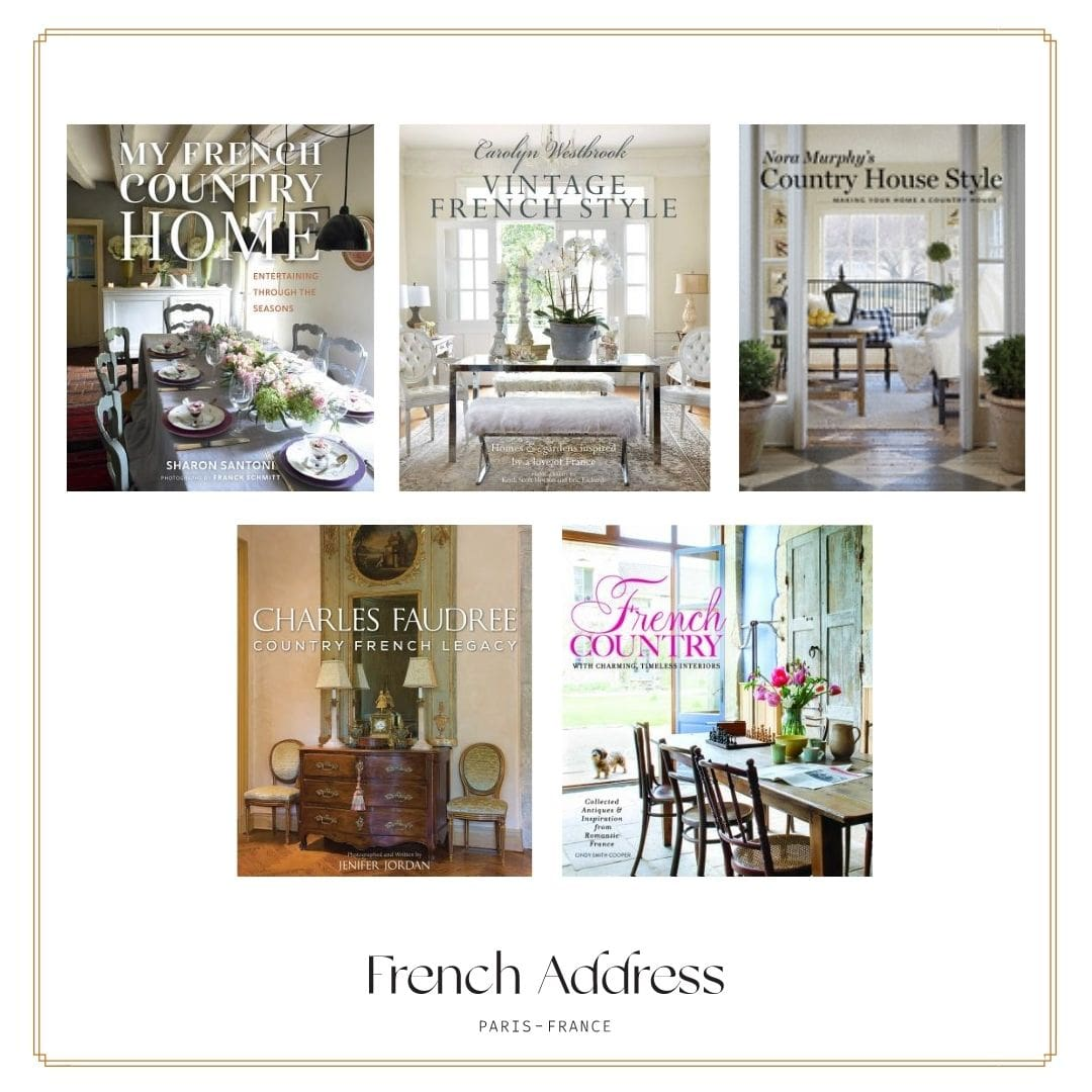 Best books on French country home decorating, perfect inspiration or French gift for Mother's Day or Christmas.