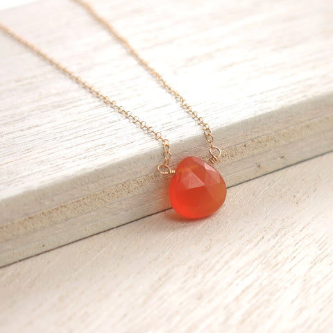 Carnelian Solo Necklace