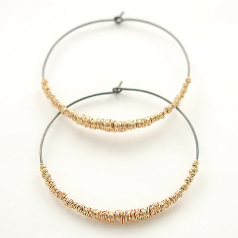 SIMPLI . Mixed Metal Hoops