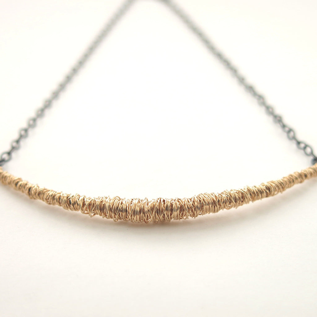 SIMPLI . Mixed Metal Bar Necklace