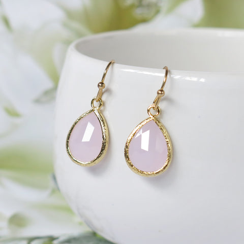 Ice Pink Gold Drop Earrings #2