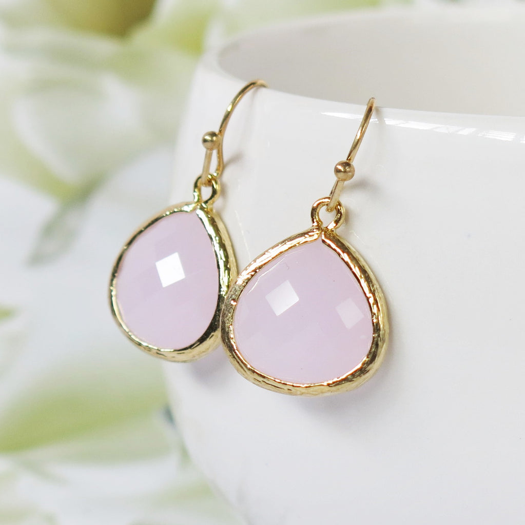 Ice Pink Gold Drop Earrings #1
