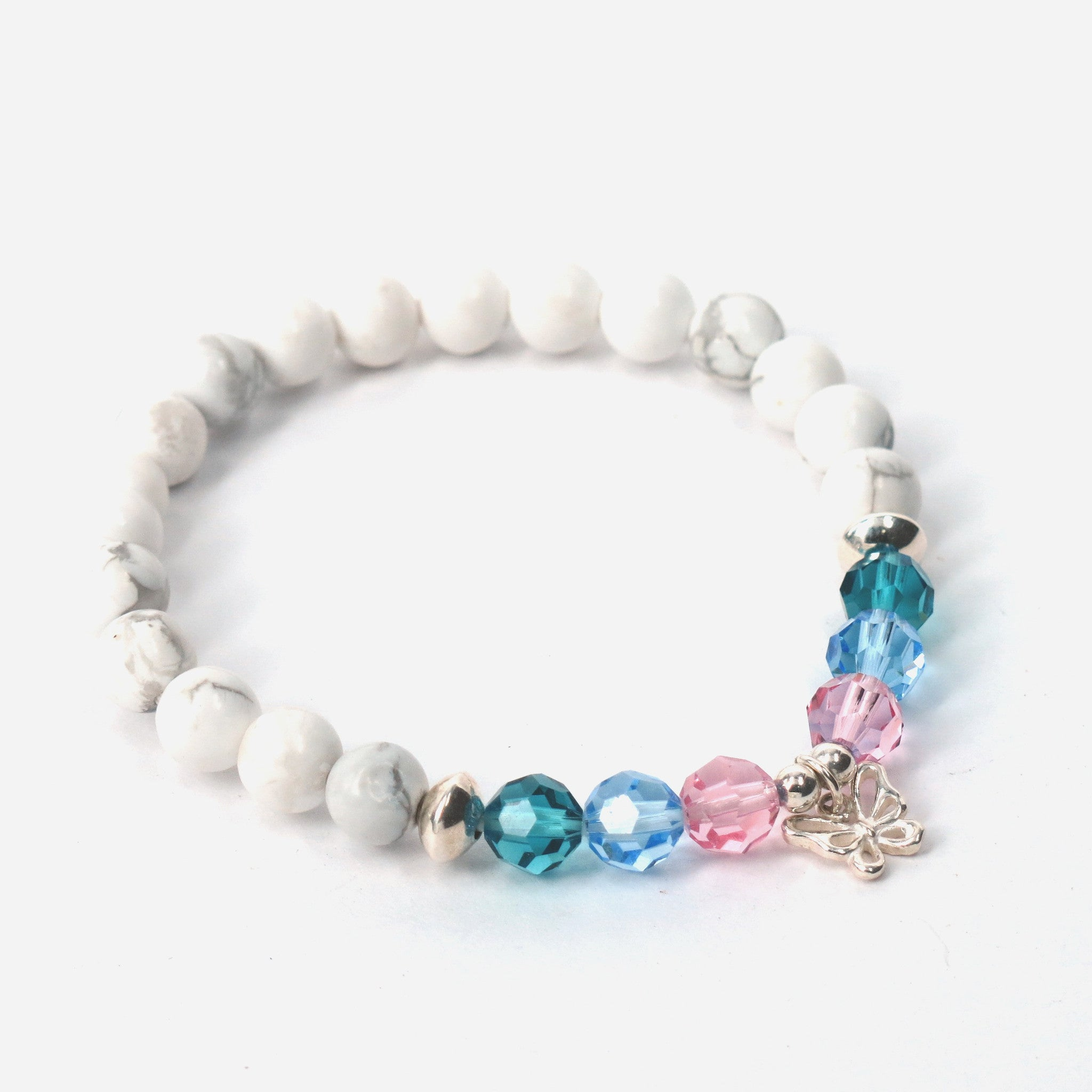1028e7fe0 ... pink blue teal · butterfly bracelet gift for thyroid patient
