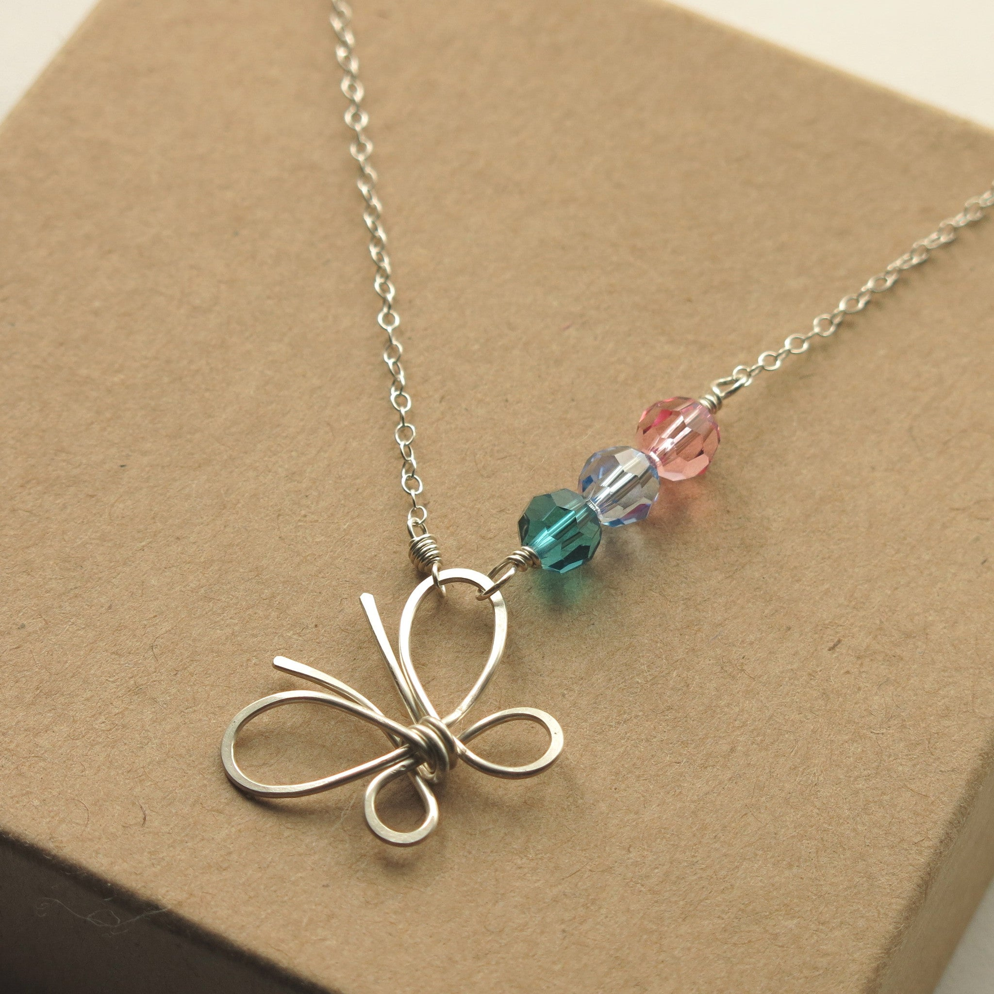 d7eb19085 Butterfly Thyroid Cancer Awareness Necklace cancer survivor gift ...