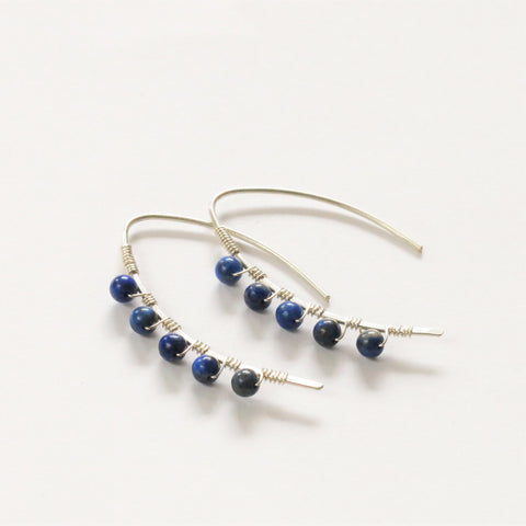 Lapis Lazuli mini curve earrings