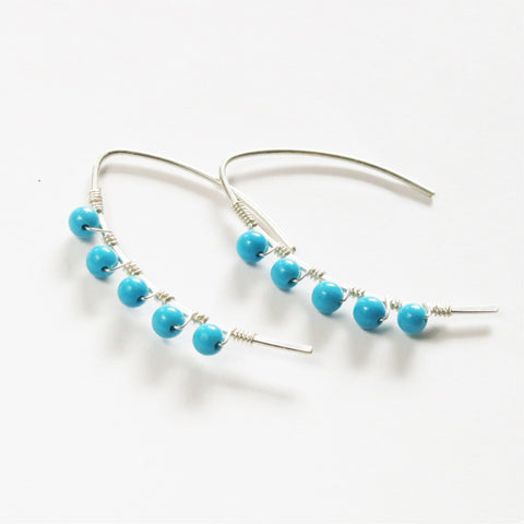 Turquoise mini curve earrings