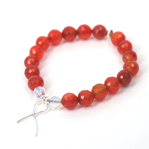Orange Ribbon Awareness Bracelet (Carnelian)